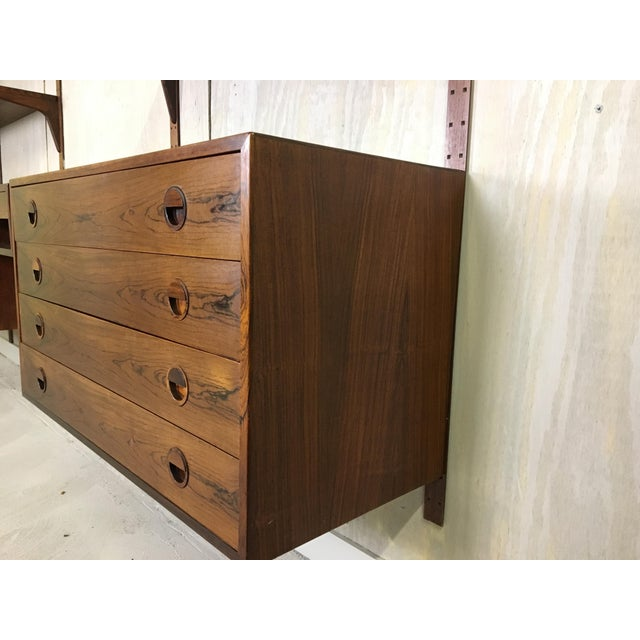 HG Danish Rosewood Wall Mounted Unit by Rud Thygesen and Johnny Sorenson For Sale - Image 10 of 13