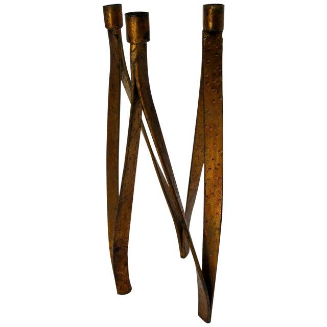 Handmade Iron Candelabra - Image 1 of 10
