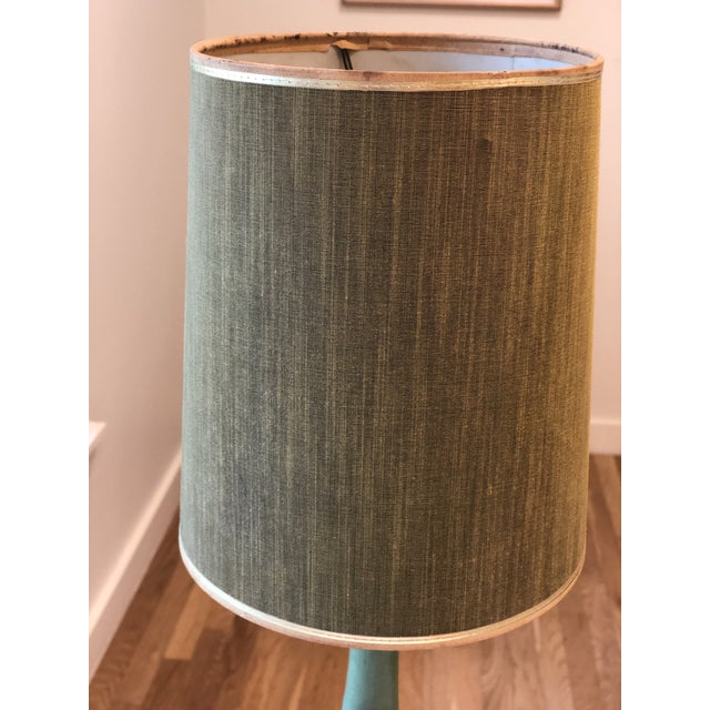 Vintage Green Plasto Ceramic Lamp For Sale - Image 5 of 10