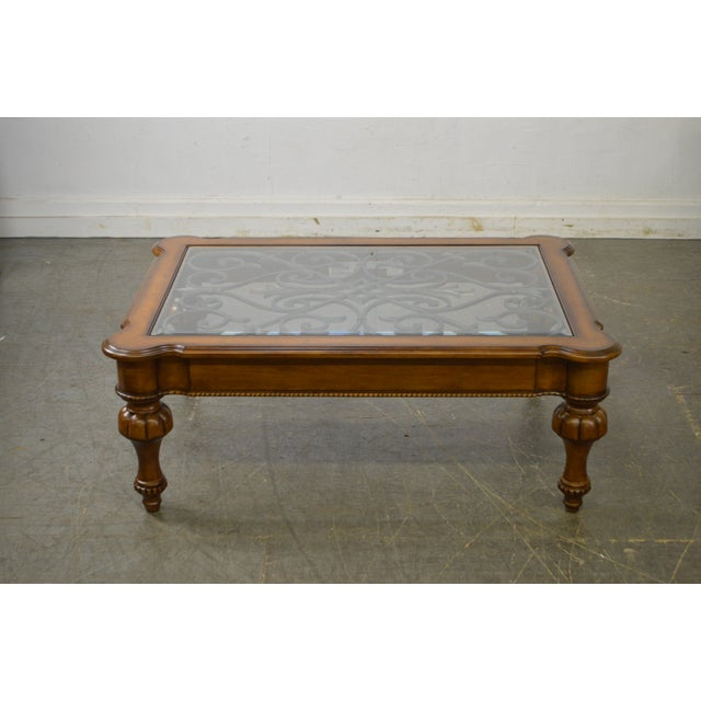 Ethan Allen Trevor Coffee Table: Ethan Allen Devereaux Tuscan Style Coffee Table (B)