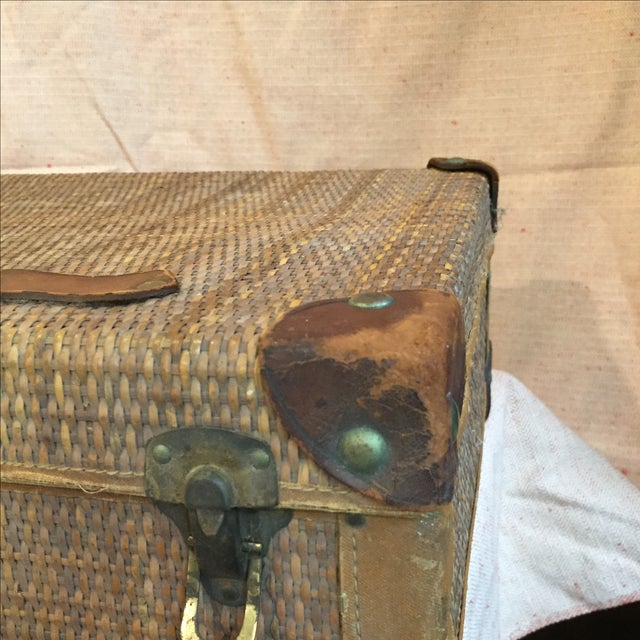 Rattan Suitcase For Sale - Image 9 of 11