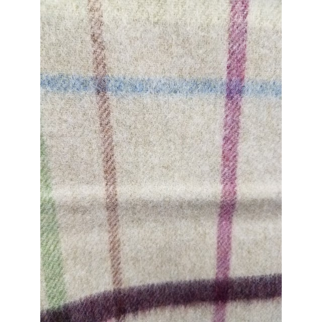 Wool Throw Multi Color Stripes on Beige Background - Made in England For Sale - Image 9 of 12