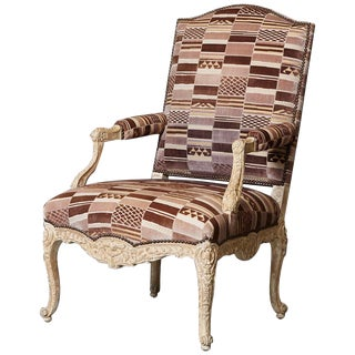 Louis XV Style Fauteuil by Sally Sirkin Lewis for J. Robert Scott For Sale