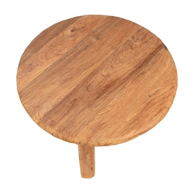 Contemporary Reclaimed Teak Round Coffee Table For Sale - Image 3 of 4