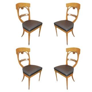 Set 4 Biedermeier Chairs For Sale