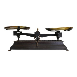 French Vintage Iron Scale For Sale