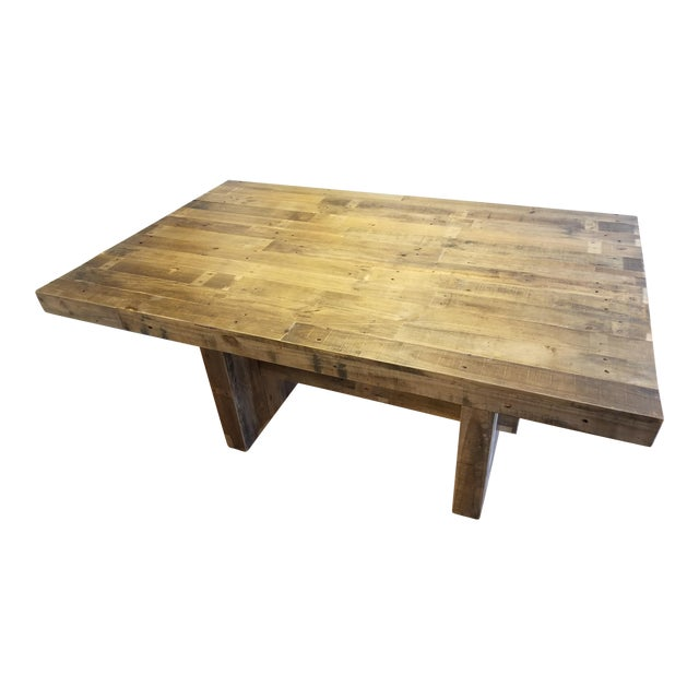 West Elm Emmerson Reclaimed Pine Dining Table Chairish - West elm emmerson reclaimed wood coffee table