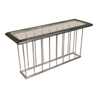 Modern Cerused Console Table For Sale