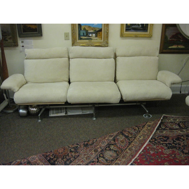 Mid-Century Design sofa is quite a lovely design with the reclining position and the upright normal seating. It is made by...