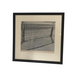 Vintage Black and White Photograph of Wire Fence in Snow For Sale