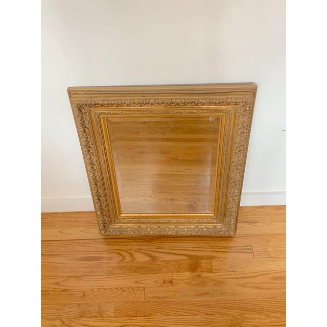 Vintage Baroque Gilt Wood Rectangular Mirror 24x28 For Sale In New York - Image 6 of 8