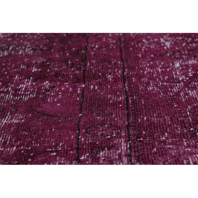 """Modern Industrial Style Distressed Over-Dyed Persian Tabriz Rug - 9'3"""" x 12'1"""" For Sale - Image 10 of 13"""