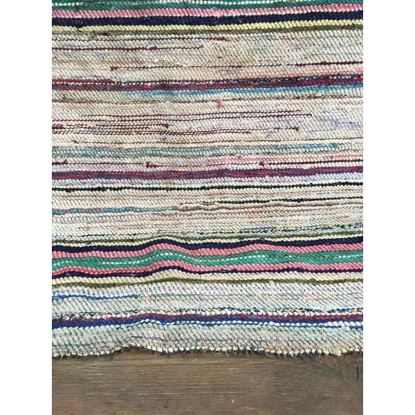 Antique Hand Woven Turkish Kilim Runner Rug - 3′3″ × 9′6″ - Image 8 of 11