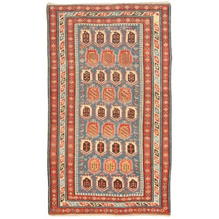 Antique 19th Century Caucasian Rug For Sale