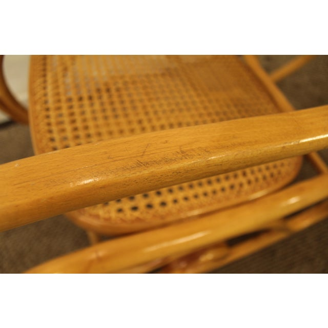 Thonet Salvatore Leone Bentwood Caned-Seat Rocking Chair #10 For Sale - Image 9 of 11