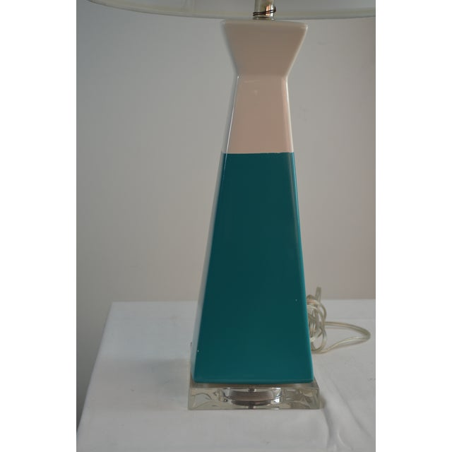 2010s Bungalow 5 Gia Lamp Turquiose With Shade For Sale - Image 5 of 7