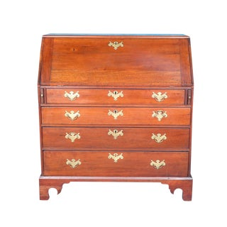18th Century Chippendale Amphitheater Interior Mahogany Desk