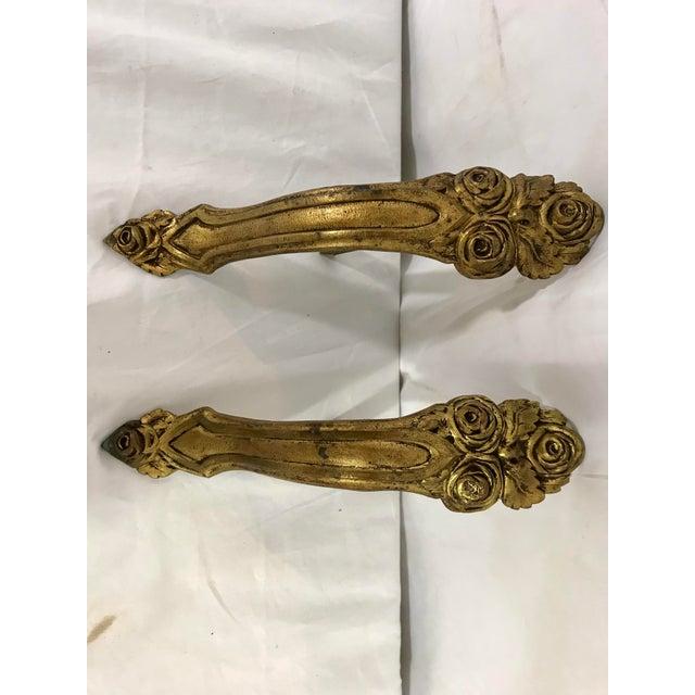 Bronze Napoleon III Bronze Dorè Drapery Holders a Pair For Sale - Image 8 of 8