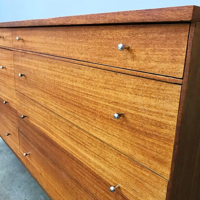 Metal Newly Refinished 8 Drawer Mahogany Dresser by Paul McCobb for Calvin For Sale - Image 7 of 12