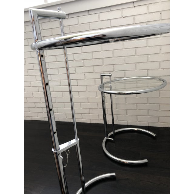 2010s Eileen Gray Inspired Chrome End Tables - a Pair For Sale - Image 5 of 10