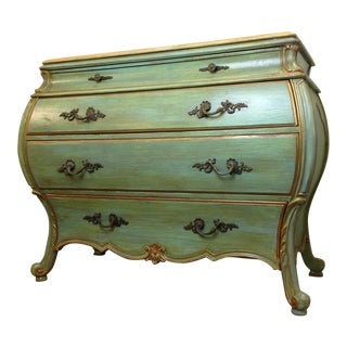 Large Light Green Painted Chest