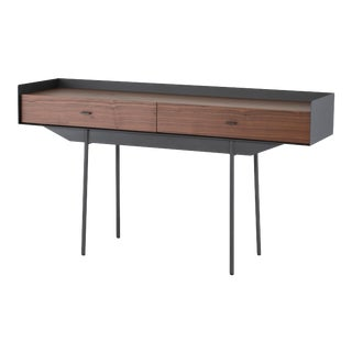 Egon Console Table In Walnut with Titanium Steel Base For Sale