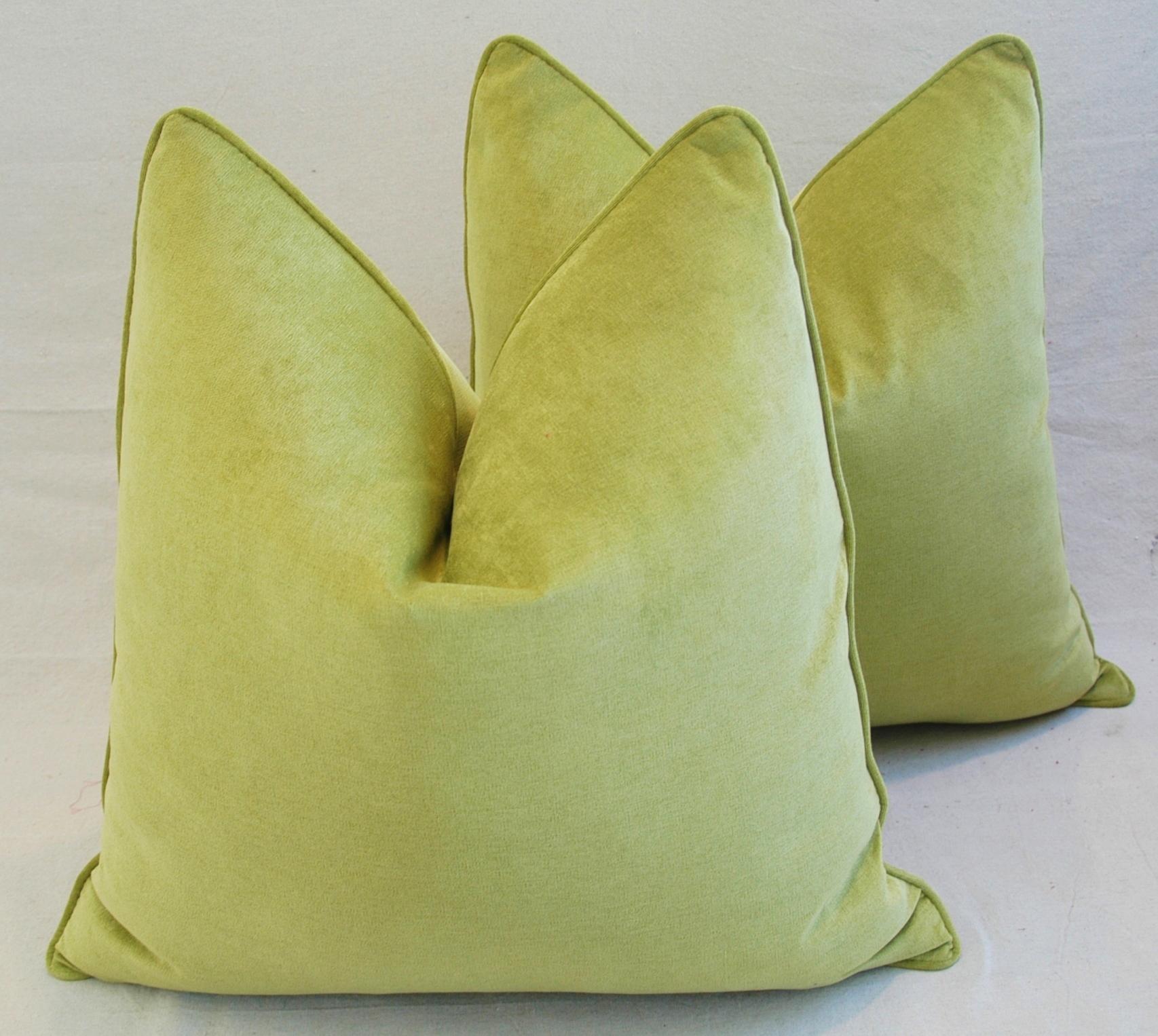 green velvet pillow. 24\ Green Velvet Pillow