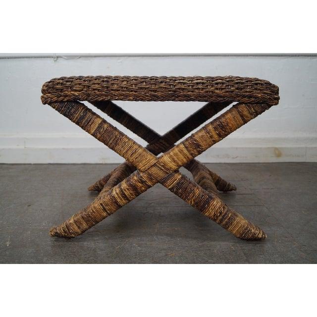 Phenomenal Palecek X Base Woven Seagrass Benches A Pair Theyellowbook Wood Chair Design Ideas Theyellowbookinfo