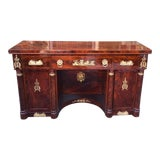 Image of Antique French Gilt Bronze Mounted Empire Sideboard For Sale
