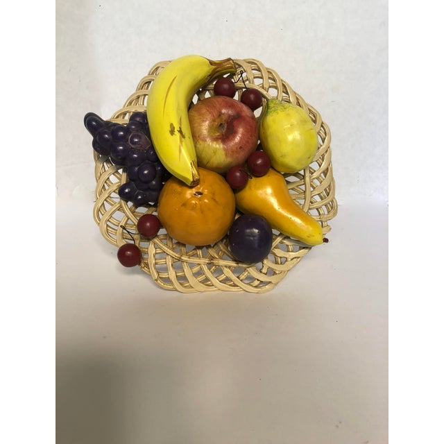 1980s Traditional Italian Porcelain Fruit Topiary/Basket For Sale - Image 9 of 11