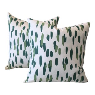 Mill Reef Palm Pillows - A Pair For Sale