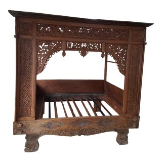 Antique Indonesian Wedding Bedframe For Sale