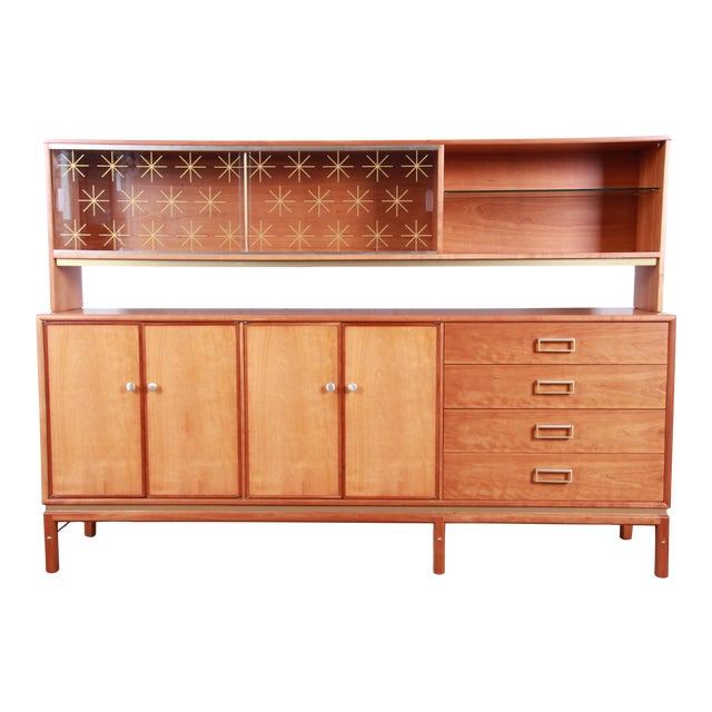 Kipp Stewart for Drexel Sun Coast Cherry Wood Sideboard Credenza, 1959 For Sale