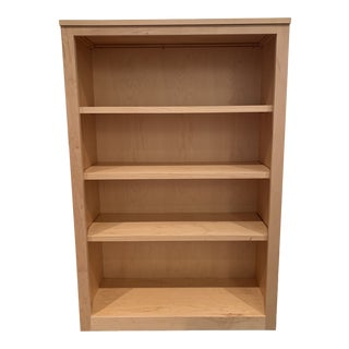 Contemporary Room & Board Woodwind Bookcases in Maple With Adjustable Shelves For Sale
