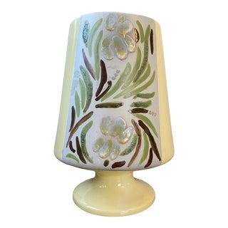 1977 Abstract Folk Art Style Ceramic Vase For Sale