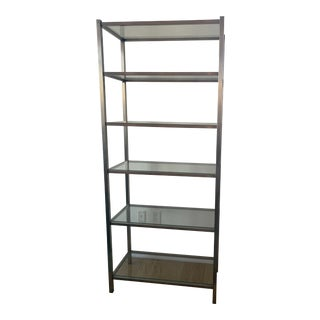 Stainless Steel and Glass Bookcase by Room & Board For Sale