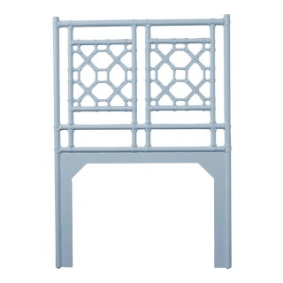 Lattice Back Headboard Twin - Blue For Sale