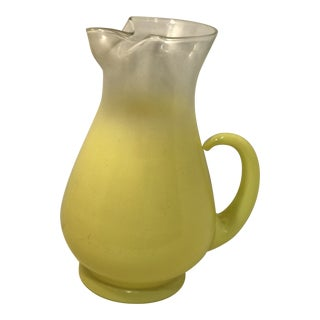 Vintage Yellow Blenko Pitcher For Sale