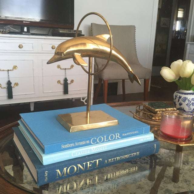 Mid Century Brass Dolphin Fish Figurine - Image 3 of 9