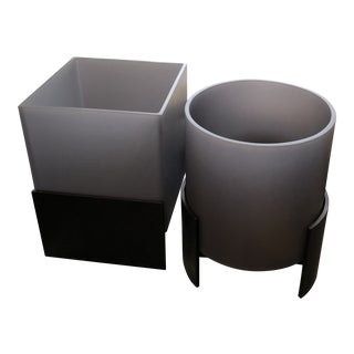 Modern Holly Hunt Ando Planters - a Pair For Sale