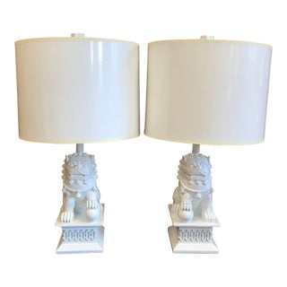 Foo Dog Lamps by Barbara Cosgrove - a Pair For Sale