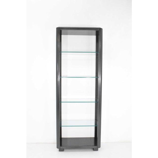 Contemporary Shelf Unit With Glass Shelves For Sale - Image 3 of 10
