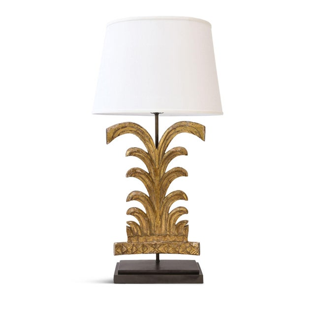 Gilded Custom Table Lamp For Sale - Image 9 of 9