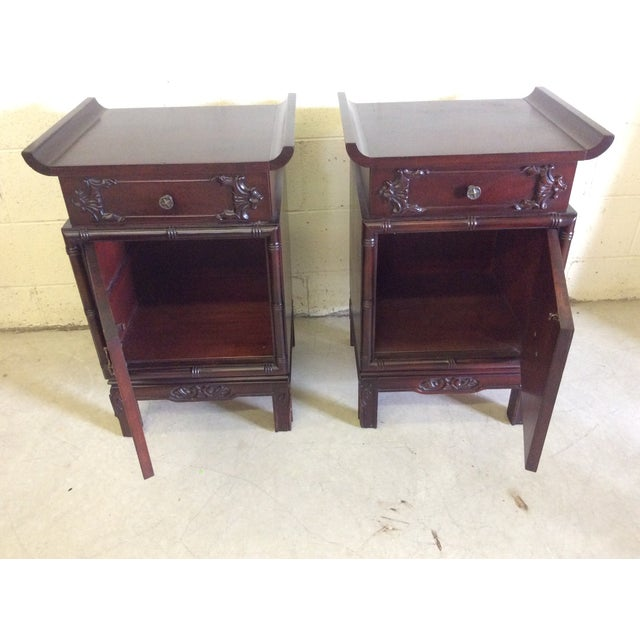 Asian Style End Tables - A Pair For Sale In Richmond - Image 6 of 8