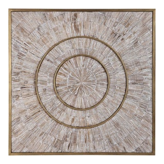 Mandala Wood and Metal Wall Decor For Sale