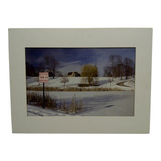 """2010 Original """"Danger Thin Ice"""" Matted Color Photograph From the Life in Homewood Cemetery Exhibition"""