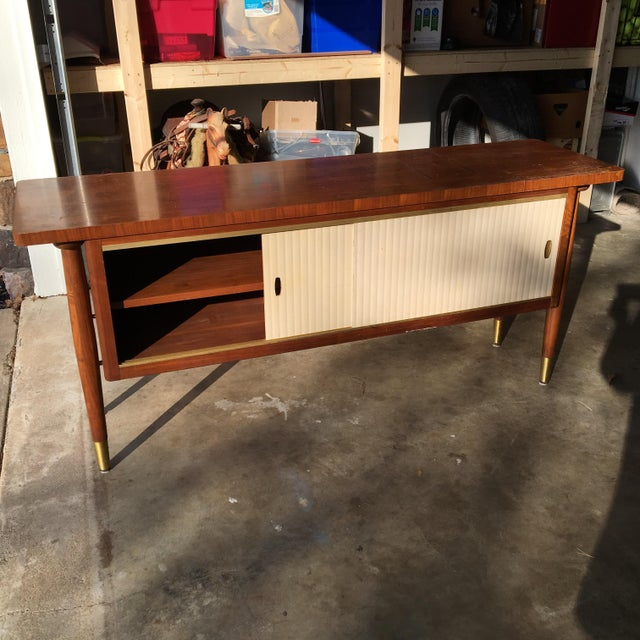 Mid-Century Modern Credenza Buffet Console Floating Top Legs - Image 2 of 10