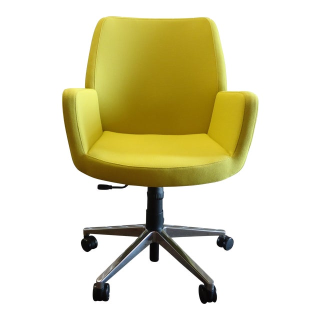 Brian Kane by Coalesse & Steelcase Modern Bindu Yellow Executive Conference Chair For Sale
