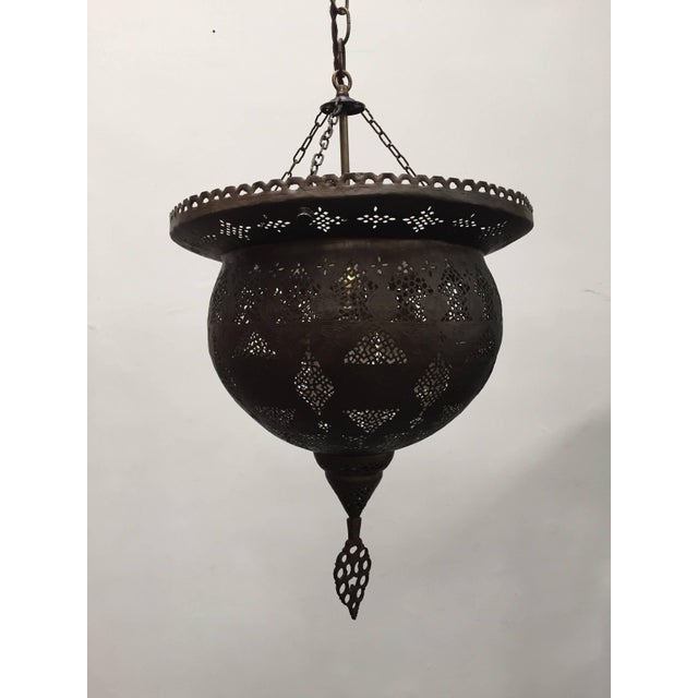 Antique 19th Century Hand-Crafted Moorish Pierced Brass Turkish Chandelier For Sale - Image 10 of 10