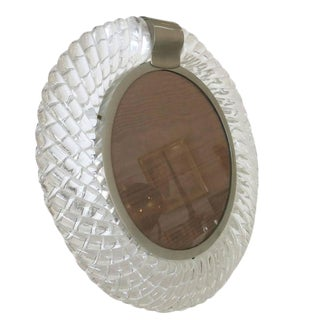 Handblown Murano Glass Frame or Vanity Mirror by Seguso For Sale